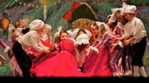 """The Mother Ginger scene from the IBE production of """"The Nutcracker."""" [photo: Nathaniel Hamilton/for Newsworks]"""